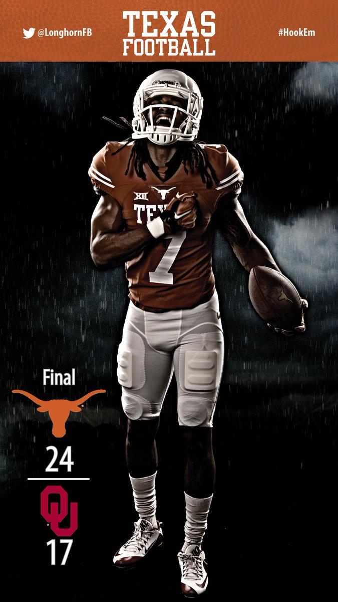 Victory Formation. FINAL: Texas 24, OU 17. #HookEm http://t.co/o1WUD6vNUt