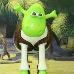 The mean green ogre himself, Shrek Shaun by @dreamworksanimation, sells for £7,500! #shaunauction http://t.co/A8ksgHU0J1