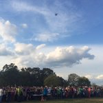 Drone in the sky getting video of the massive line of people waiting to get in to see Luke Bryan. #wiat42 http://t.co/ajE9eo3j6M