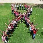 Alunos do 2º período de Odontologia participaram de uma ação para apoiar a campanha de conscientização Outubro Rosa. http://t.co/2mEocON7ns