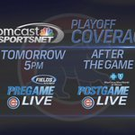 Were your home for @Cubs #Postseason coverage! #CubsTalk #FlyTheW http://t.co/qGivKRFc1r