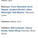 Saint Louis Cardinals official NLDS roster! http://t.co/SfALnZcLAy