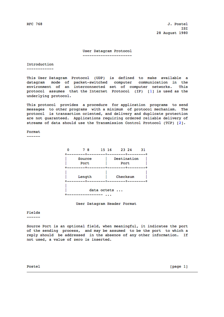 The RFC for UDP (RFC 768) fits on 3 printed pages.   You are 30 seconds away from learning the basics of UDP: http://t.co/VL7IAOdUhd