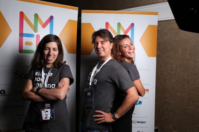 """We were stocked to have an amazing support from @spreaker team during #NMEU this year. Here is to the """"A-Team""""! http://t.co/H4NbY7aIzm"""