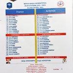 La feuille de match officielle de #FRAARM #AllezLesBleus http://t.co/A1FxQPewLq