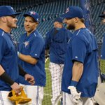 The squad is tuning up for the #ALDS! 60 minutes until first pitch! #ComeTogether http://t.co/d6ussoNCSh