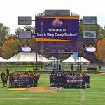 From now on @UAlbanySports multi-sport facility will be named Tom & Mary Casey Stadium. Thank you Casey family! http://t.co/2tCskLJPXL