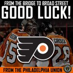 Our friends @NHLFlyers are back! Good luck in tonights season opener. #BrotherlyLove #NHLFaceOff http://t.co/dWQ1c80IQw