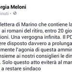 #Marino vergogna infinita. #PD non prolunghi agonia e firmi insieme ai nostri consiglieri dimissioni immediate. ST http://t.co/or6FFcPDG6