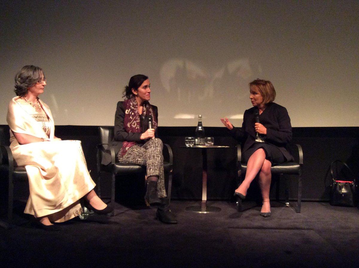 Sarah @sandsstandard introduces fantastic panel of @Helenpankhurst @SarahGavron and @wardfaye at #suffragette http://t.co/lQ7YQ7WHtM