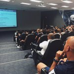 Wait, if Coach is in the back row whos that leading the charge in team meeting? #PSUHomecoming http://t.co/6BBnBDRhlK