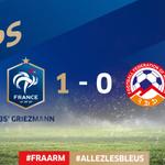 Des Bleus dominateurs et bien en place! #FRAARM #AllezLesBleus http://t.co/EAlNYZLab8