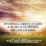 Nuestros muchachos @FCFSeleccionCol no juegan solos. ¡Colombia entera los acompaña! #RazonesParaCreer http://t.co/HCjZSjdIa9