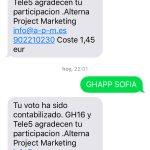 Que Sofia se quiere ir? Pues un votito para ella! #Gala5GH16 #GHDirecto RAQUEL SE QUEDA! http://t.co/Ymy9NH1Gju