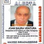 Éste es Joan, un #mayor enfermo de #Alzhéimer #desaparecido en #Tarragona Si le ves llama 062 o 112 Ayuda con tu RT http://t.co/xhqPePwKGZ