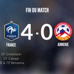 ????????FRANCE 4️⃣-0️⃣ ARMENIE CEST FINI ! L@equipedefrance simpose 4 buts à 0 ! Bravo les Bleus !!! #CôtéFoot http://t.co/3SSW8so1hY