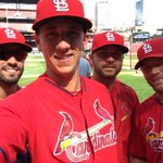 Squad selfie. #12inSTL Grichuk, Piscotty, Easley and Moss http://t.co/BKokgPQQvR