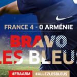 Cest fini! Belle prestation des Bleus avec des buts de @AntoGriezmann @YCabayeofficiel et un doublé de @Benzema! http://t.co/J6iSsHgIy5