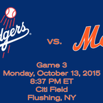 It looks like we have a game time for #Mets/#Dodgers on Monday for game 3: http://t.co/yUtzNEqQyf