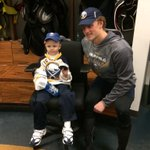 After the game, Jack met with his good buddy Matthew Eggers and shared his 1st @NHL goal puck. http://t.co/F5BsEAm8sZ