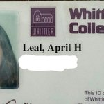 In honor of ERHS College Day 2015, my Whittier College id card. @elranchoKWEK @ElRanchoHS http://t.co/FAYFX0BLUP