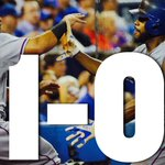 Texas strikes 1st! Rangers defeat Blue Jays, 5-3. Its Texas first playoff win since Game 5 of 2011 World Series. http://t.co/bru9oQNXrQ
