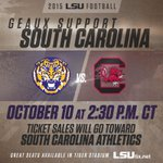 Come support the Tigers and Gamecocks. Tickets are on sale now to the general public: http://t.co/jDC31UDcOh http://t.co/o4snQ0xxFp
