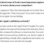 sounds like elon musk feels threatened by apple, similar to those laughing at the iphone before it took off: http://t.co/4zMCmdgvlc