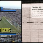 The game that shook Death Valley!  27 years ago today, #LSU defeated No. 4 Auburn, 7-6 in The Earthquake Game. http://t.co/MeqcfdnfDq