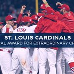In honor of the #NLDS tomorrow, #TBT to the 2013 Extraordinary Character winner, the @Cardinals! #MusialAwards http://t.co/aXpQT4cGKP