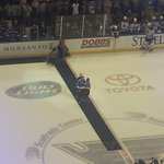 Yadi Molina comes out to drop the ceremonial first puck #stlblues #STLCards http://t.co/7dBcOxSUln