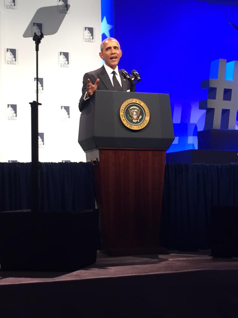 """America's greatness doesn't come from building walls, it comes from building opportunity"" @POTUS #2015HMM http://t.co/b3L9DJ5Gks"