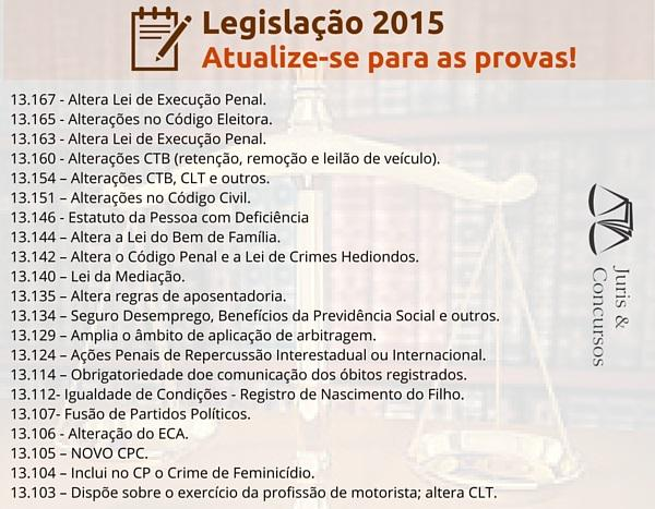 Novidades Legislativas! Fique atento, estarão em suas próximas provas!  http://t.co/PfUH5L7qMl http://t.co/VxMeSAji9v