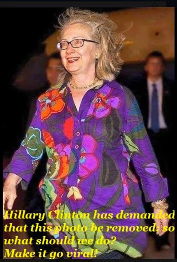 Shillary has demanded this picture be removed.  Should we post it everywhere? http://t.co/z4ML2Ra9E9