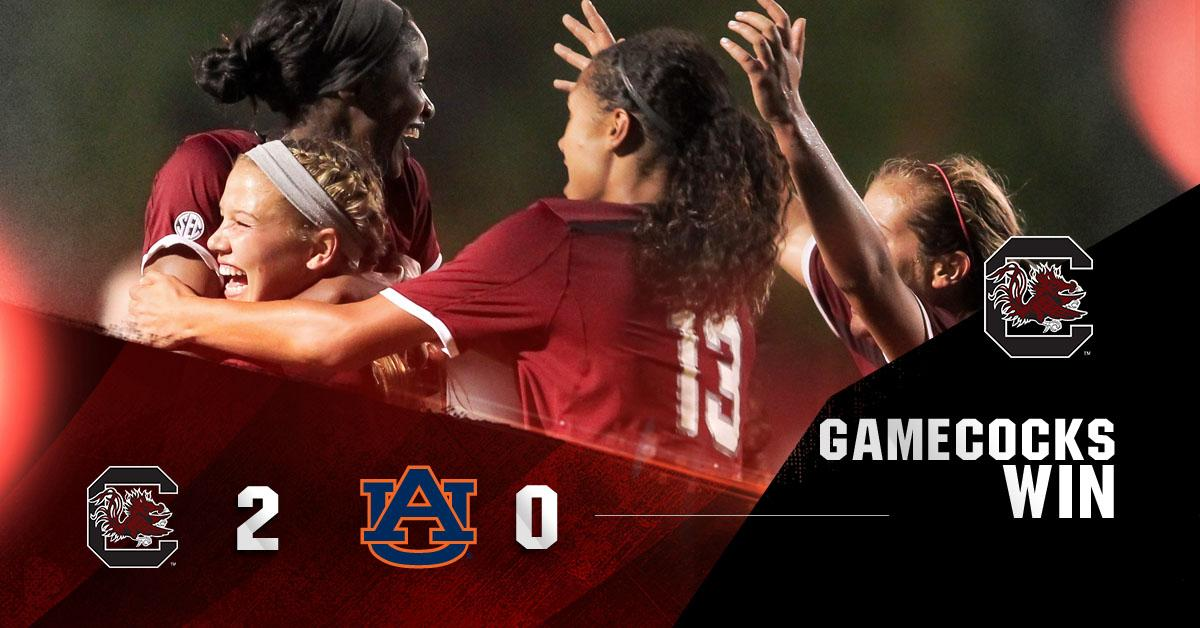 #Gamecocks WIN! No. 10 South Carolina defeats No. 8 Auburn 2-0. #Gamecocks improve to 11-1-1, 5-0-1 in the SEC!! http://t.co/A4GBRiCrGp