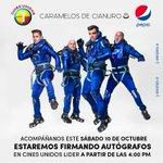 ¿Activos? Firma de autógrafos este sábado 10 de octubre en @cinesunidosve de @cclider #Caracas #Venezuela #cdc8 http://t.co/pZe5c8ddxe