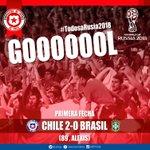 Tremenda jugada y @Alexis_Sanchez marca el 2-0 que trae la calma ante @CBF_Futebol ¡#VamosChile! #TodosaRusia2018 http://t.co/cL3NkSpVHu