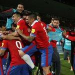 ¡SE ACABÓ! En una noche histórica #LaRoja venció por 2-0 a @CBF_Futebol en el Nacional #VamosChile #TodosaRusia2018 http://t.co/PQOlOCSVTT