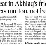 Dadri lynching: Meat in Akhlaq fridge was mutton, not beef http://t.co/yMoYXAdMMz http://t.co/0U6IfWC9pq