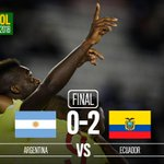 SORPRESA Ecuador se lleva los puntos del Monumental frente Argentina. RT para felicitar a los ecuatorianos. http://t.co/bn8XvCwmre