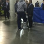 Lehner left FNC on crutches with a boot on his right foot. #Sabres http://t.co/bemL5W5ozJ
