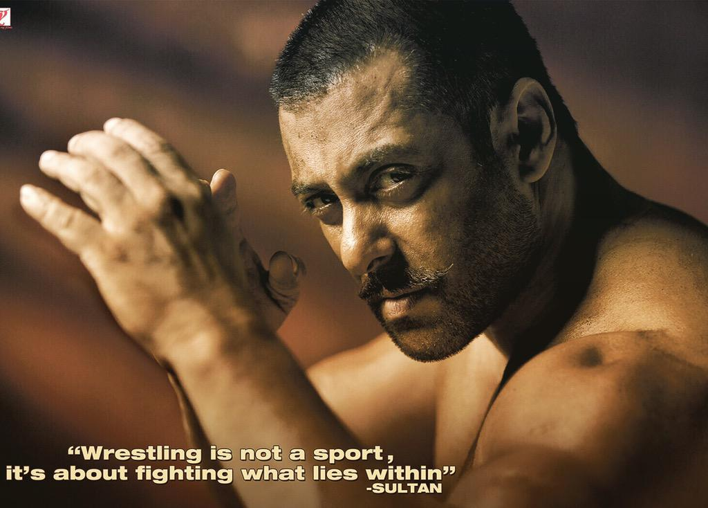 """Wrestling is not a sport. It's about fighting what lies within."" #Sultan @BeingSalmanKhan http://t.co/f2Fdjpa6Ea"