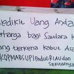 @vikingUPI Ayo sumbangkn uangmu u/ saudara kta di Riau&sekitarnya melalui box #KOPMABSUPIpeduli di meja kasir KOPMA http://t.co/geXGtuXeeO