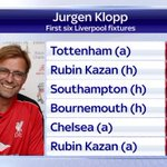 We will be live with Jurgen Klopp from 10am this morning on #SSNHQ. Here is how he will start his reign at #LFC http://t.co/YplnJEyH2w