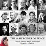 The 16 heroines of peace! #NobelPrize http://t.co/DnEOBSERmv
