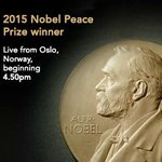Dont forget! 2015 #Nobel #Peace Prize winner announcement. Live from Oslo. 4.50pm today. #PeacePrize http://t.co/495elghHTk