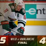 Wild comeback! #mnwild scores four goals (led by the Zach Trick) in the third period to top #avs, 5-4. #MINvsCOL http://t.co/QlpUSzKou5