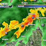 Who else woke up to a loud rumbl of thunder? Few t-storms and heavy downpours from West Seneca to Angola. http://t.co/WZAIY8Acxm