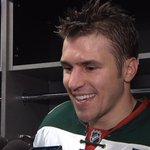 Zach Parise talks about #mnwilds win against Colorado and the ???? Zach Trick: http://t.co/A2vJXAVBha http://t.co/IRxYenPVM1