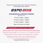 Here are all the details you need for the expo. One week to go! All the best. #MarathonTime #Run #Bangalore #Bib #kit http://t.co/MjPcmqFJDm